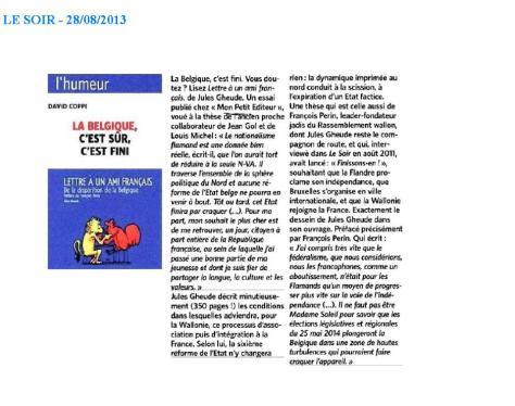 Jules Gheude, Le Soir