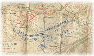 carte bataille Waterloo