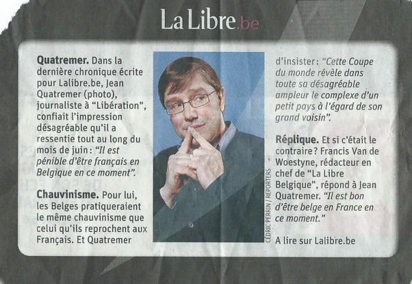 Quatremer, La Libre