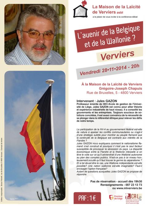 Jules Gazon, conférences nov. 2014